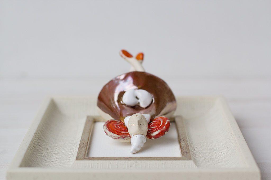 keramikinis paveiksliukas su angelu